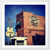 Sun Studio Records Art Print