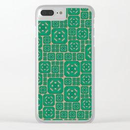 Jade Tile Cluster Patten Clear iPhone Case