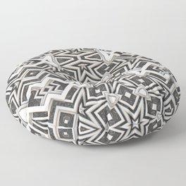 Gray to White - Tribal Pattern Floor Pillow