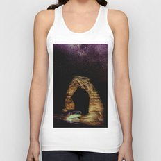 Night Sky Stars - Delicate Arch at Arches National Park Utah Unisex Tank Top
