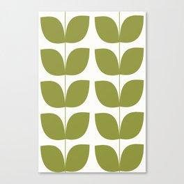 Mid Century Modern Leaves Green #society6 #buyart Canvas Print