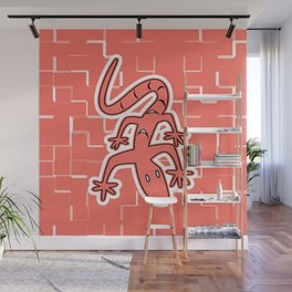 LIVING CORAL LIZARD ON THE WALL GRAPHIC ARTWORK Wall Mural