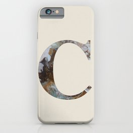 Letter 'C' Monogram with Abstract Art iPhone Case