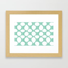 Holiday Bobbles - Festive Teal Framed Art Print