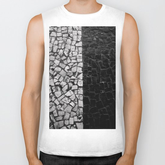Black and White on the streets Biker Tank