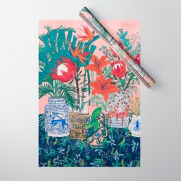 The Domesticated Jungle - Floral Still Life Wrapping Paper