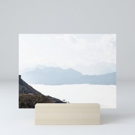Mountaintops in the clouds, Vietnam | Travel photography | Nature photo print Mini Art Print