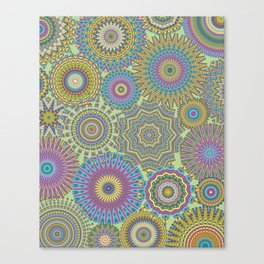 Kaleidoscopic-Jardin colorway Canvas Print