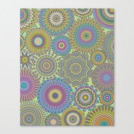 Kaleidoscopic-Jardin colorway Canvas Print