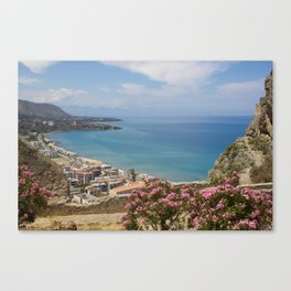 Cefalu view from La Roca Canvas Print