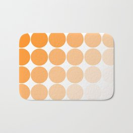 Orange Circle Color Charts Bath Mat