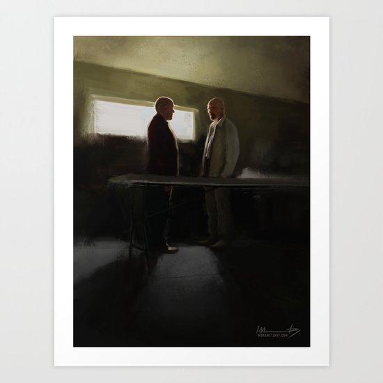 Hank vs Heisenberg Art Print