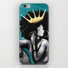 Naturally Queen VI  TEAL iPhone Skin