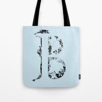 font Tote Bags featuring B FONT by riz lau