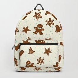 Gingerbread Pattern Cream Backpack