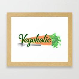 Vegeholic Framed Art Print