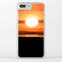 Isle of Anglesey View of Ireland Mountains Sunset Clear iPhone Case