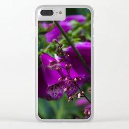 Lavender Bells Clear iPhone Case