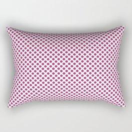 Festival Fuchsia Polka Dots Rectangular Pillow