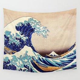 The Great Wave Off Kanagawa Wandbehang