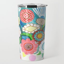 Emerald flowers Travel Mug