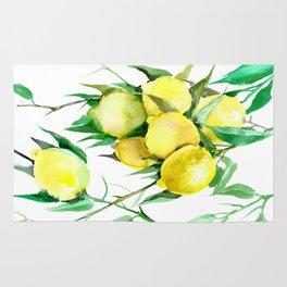 Lemon Tree. lemons kitchen design decor Rug