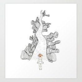 Dream Land Road Art Print