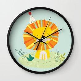 Juvenile Lion Wall Clock