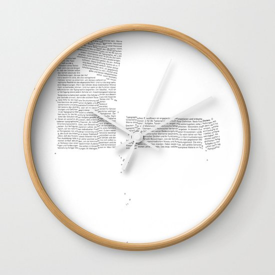 Erosion & Typography 4 Wall Clock