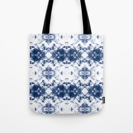 Shibori Tie Dye 3 Indigo Blue Tote Bag