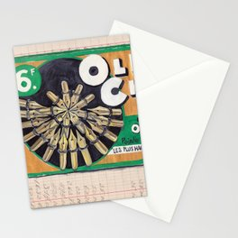 Old Chap Gold Pen Nib Display from France in Gouache Stationery Cards