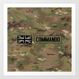 British Flag: Commando (Camo) Art Print