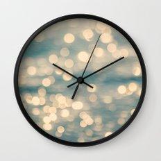Sunlight Dancing on the Sea Wall Clock