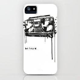 boombox be heard stereo ghetto blaster radio noise iPhone Case