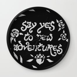 SAY YES Wall Clock