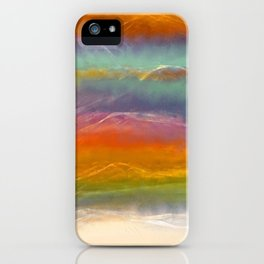 Beautiful Mountains Abstract Landscape 16 iPhone Case