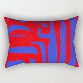 Abstract in Blue and Red I Rectangular Pillow