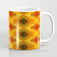 orange pattern Mugs featuring Orange Pattern by Art-Motiva