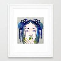 luna Framed Art Prints featuring Luna by Stevyn Llewellyn