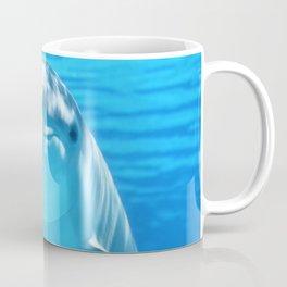 Cute Dolphin Marine Animal in Blue Sea Coffee Mug