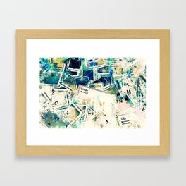 keyboard keys letters wsstdi Framed Art Print