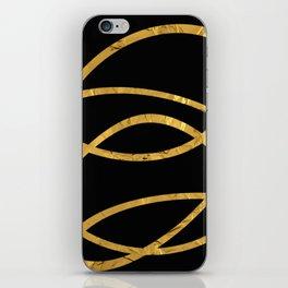 Golden Arcs - Abstract iPhone Skin