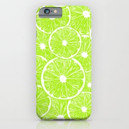 Lime slices pattern iPhone Case
