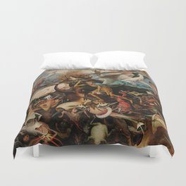 Pieter Bruegel the Elder The Fall of the Rebel Angels Duvet Cover