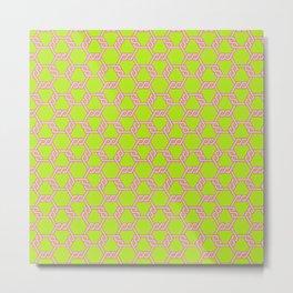 Pastel Red-Green Freeman Lattice Metal Print