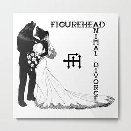 Animal Divorce Metal Print
