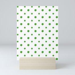 Saint Patrick Motif Pattern Mini Art Print