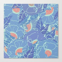Blue Tropicana Canvas Print