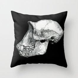 Chimp Skull Throw Pillow