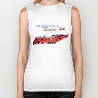 tennessee Biker Tanks featuring Tennessee Volunteers by megan matthews